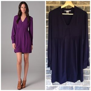 DvF Veda long sleeve dress blue size 4
